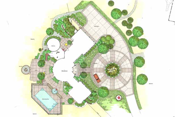 1000 images about residential landscaping plans on for Landscape house plan