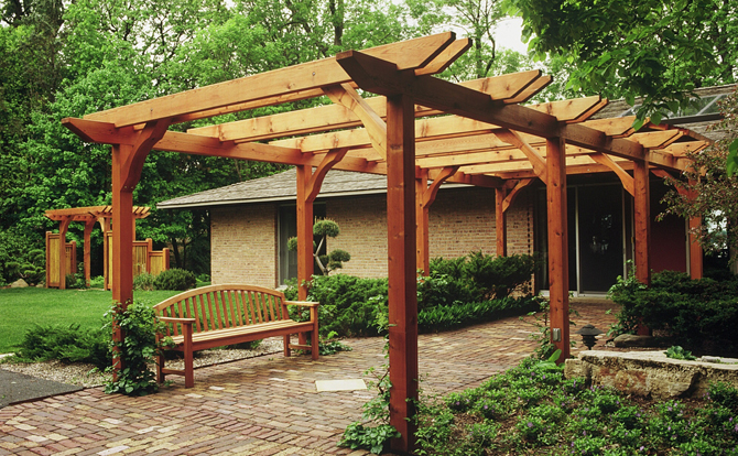 Pergolas arbors services list niwa design studio ltd for Pergola designs