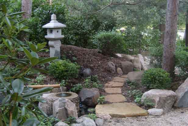 Ideas for setting up a japanese garden in the front yard for Japanese water feature